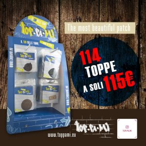 espositore patch e toppe toppami
